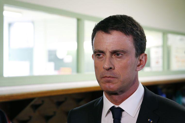 Frans premier Manuel Valls.