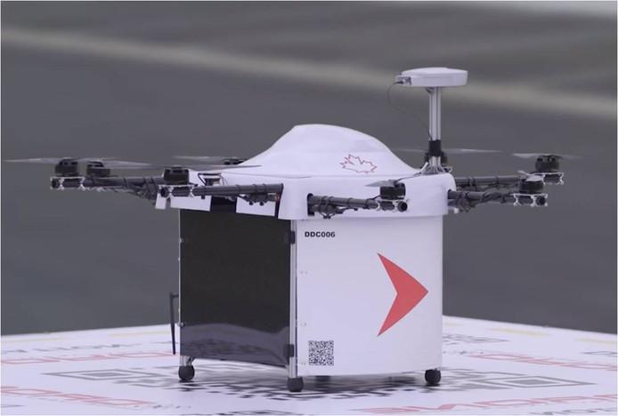 De drones kunnen een lading van maximaal vijf kilogram vervoeren.