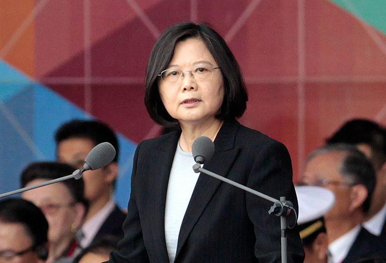 De Taiwanese president Tsai Ing-wen. Beeld ap