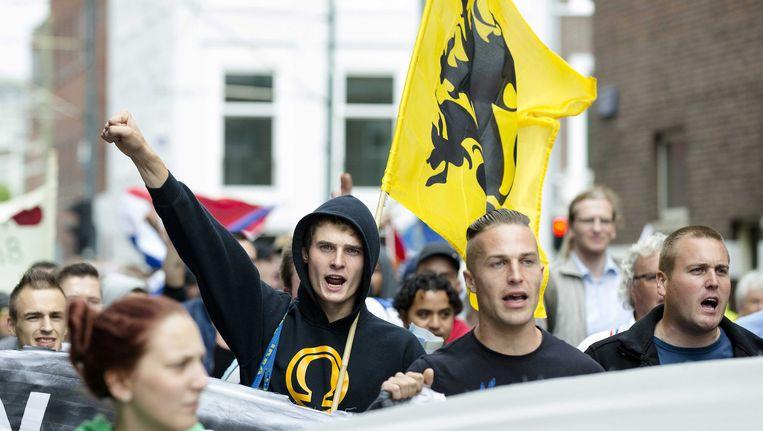Een door Pro Patria georganiseerde demonstratie in Den Haag vorig jaar. Beeld EPA