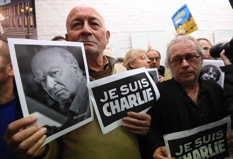 De Belgische cartoonisten Gal en Marec.