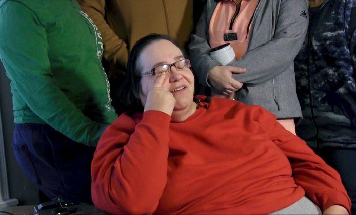 Lisa Finch, de moeder van Andrew Finch die donderdagavond doodgeschoten werd door de politie.