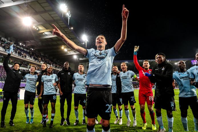 Feest bij de spelers van Club Brugge.