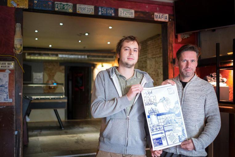 Jasper Van Roosbroeck en Raf Maris organiseren voor het eerst jamsessies in De Oude Ketel.