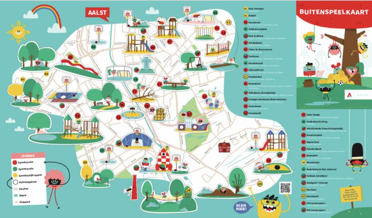 De nieuwe speelkaart van de stad Aalst.
