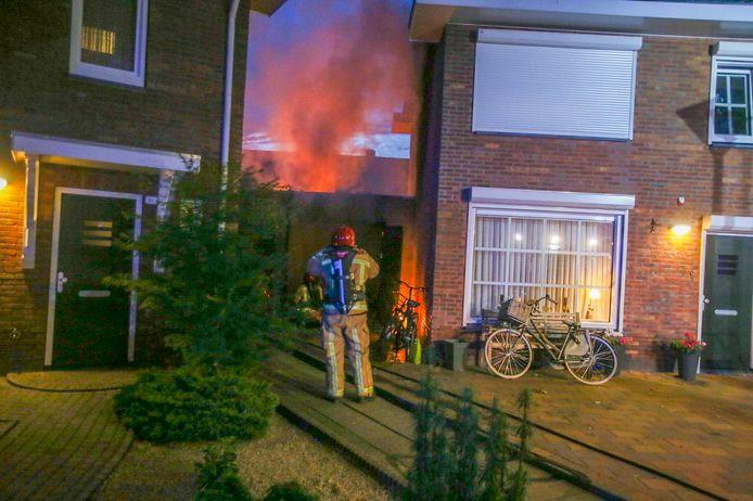 Brand 24 juni 2019 in garage naast woning aan de Jan van der Spekstraat.