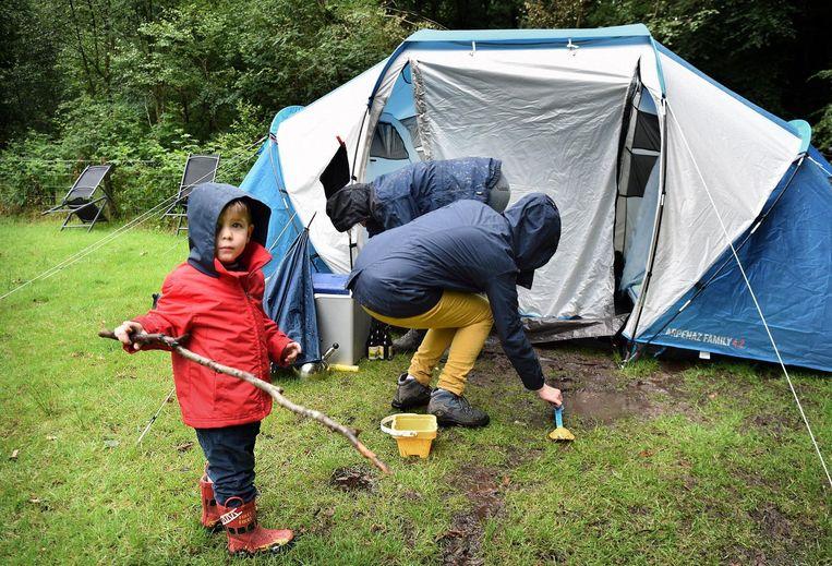 Natuurcamping Drie in Ermelo. Beeld Marcel van den Bergh / de Volkskrant