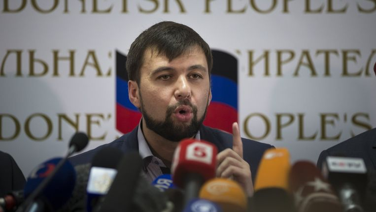 Denis Poesjilin, leider van de separatisten in Donetsk. Beeld ap