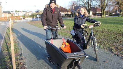 """Nieuw stuk fietspad: """"Veiliger fietsen van en naar Palaestra"""""""