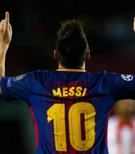 Messi viert zijn honderdste treffer in Europa