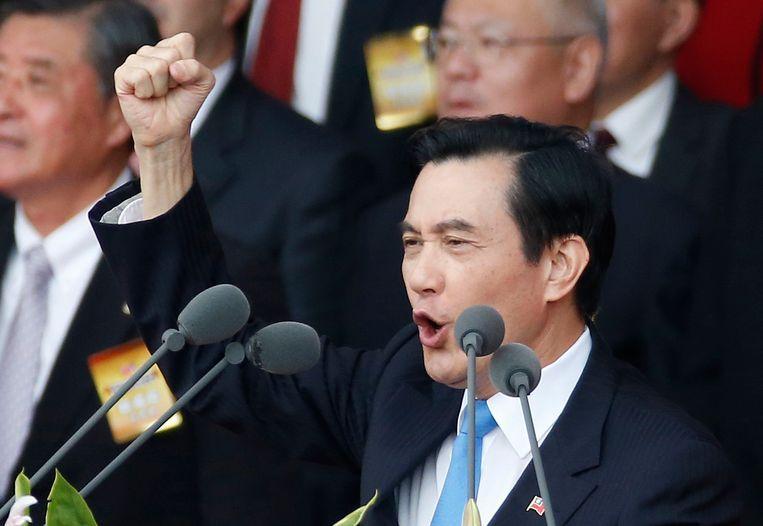 De president van Taiwan, Ma Ying-jeou. Beeld ap