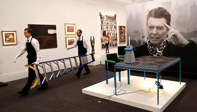 De Bowie Collection in Sotheby's. Beeld AP