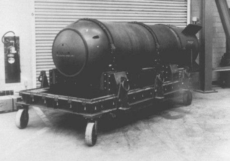 De verloren atoombom ligt zestig jaar na het incident nog steeds op de bodem van de Atlantische Oceaan. © This Day in Aviation/(Nuclear Weapons Archive)