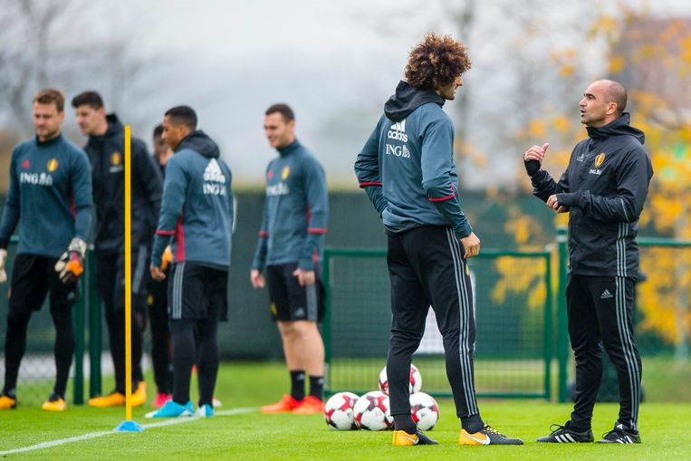 Marouane Fellaini trainde voor de eerste keer mee deze week.