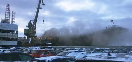 Dode bij brand op Ruslands enige vliegdekschip