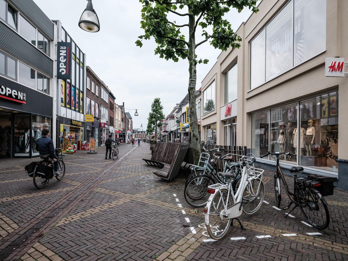 Winkelstraat Hamburgerstraat in Doetinchem.