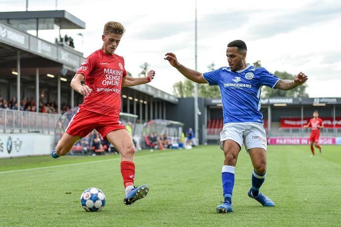 Jelle Goselink kwam tot zeven officiële duels voor Almere City, waar hij ook in deze voorbereiding oefenduels speelde.