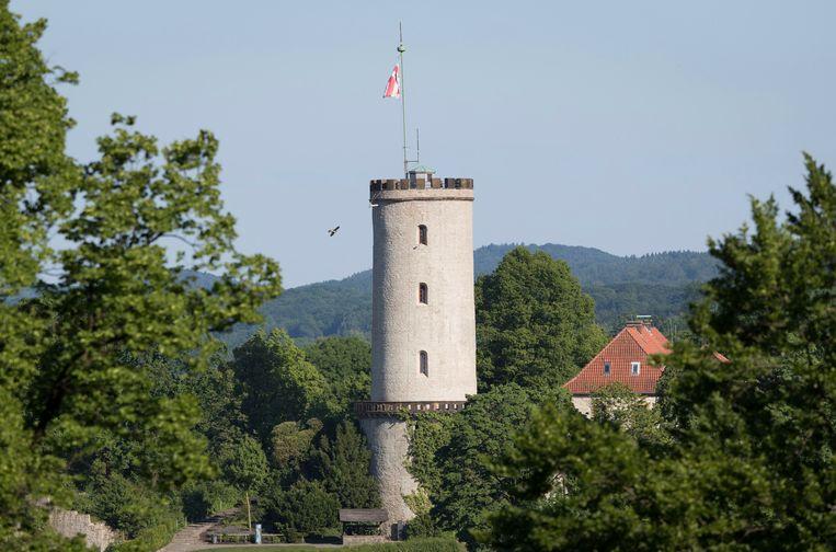 Kasteel Sparrenburg in de 'niet bestaande stad' Bielefeld.
