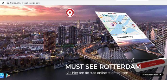 Wie mustsee.amsterdam bezoekt, krijgt de hotspots van Rotterdam te zien.