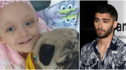 Ex-One Direction-lid Zayn Malik doneert 10.000 pond aan jong meisje met levensbedreigende kanker