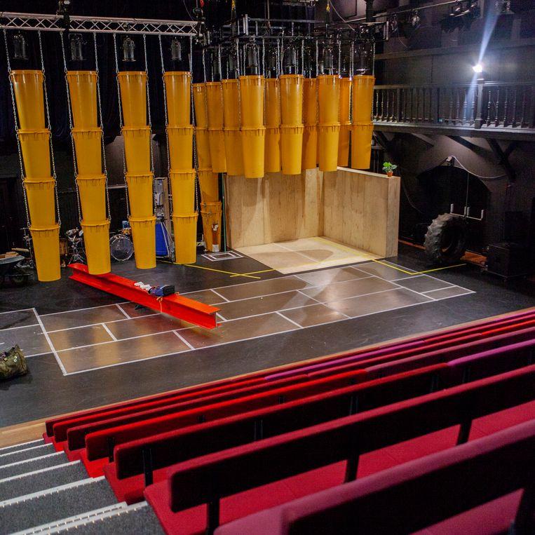 interieur van Theater de Krakeling, Nieuwe Passeerdersstraat. Beeld Lin Woldendorp