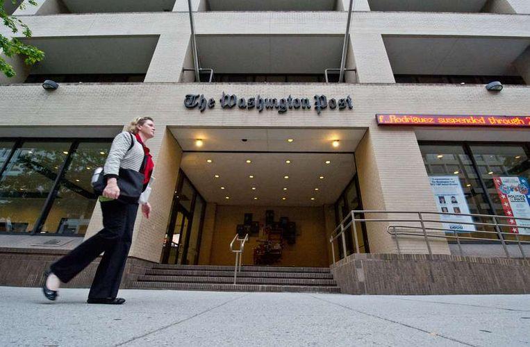 Het hoofdkwartier van The Washington Post in Washington D.C.