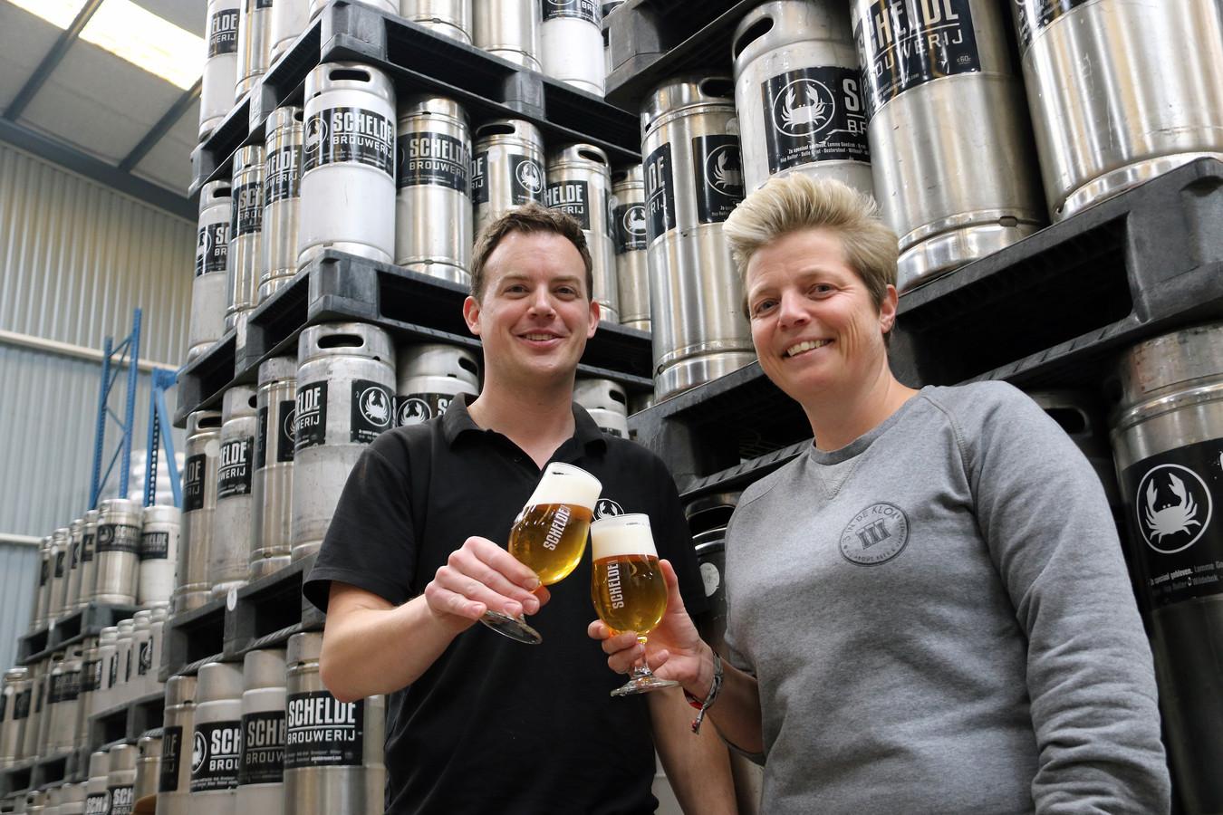 Jeroen Havermans en biersommelier An Martens uit Hoogstraten.