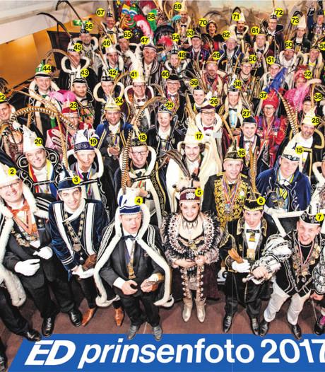 Alle prinsen uit Zuidoost-Brabant voor de twaalfde keer op de Bavaria Prinsenfoto in Lieshout