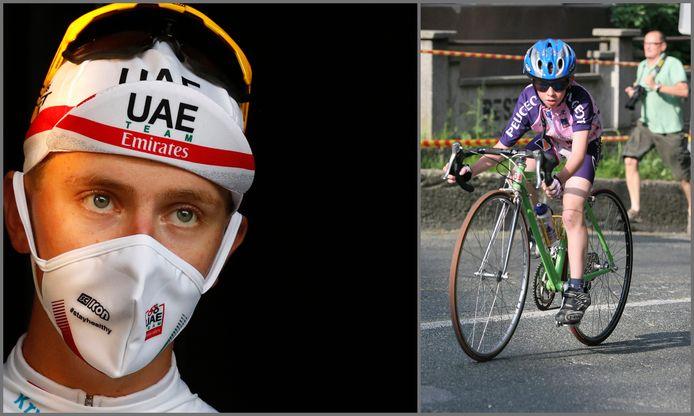 Tadej Pogacar, de op een na jongste Tourwinnaar ooit, begon ooit op 9-jarige leeftijd met een veel te grote fiets.