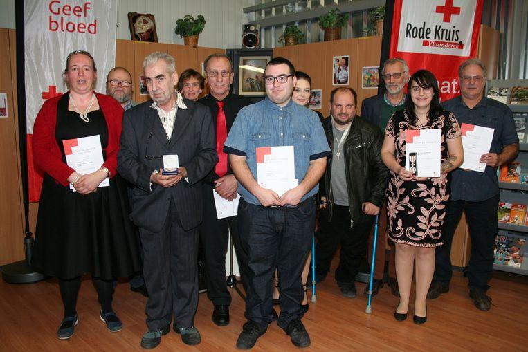 Huldiging van de vrijwilligers van het Rode Kruis