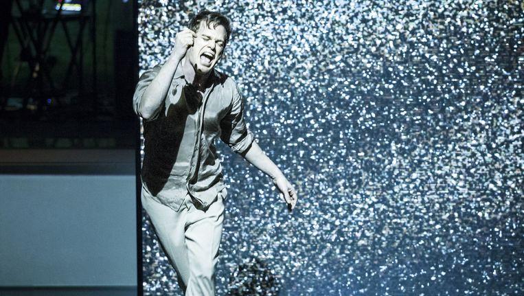 Scene uit Lazarus van David Bowie en Ivo van Hove die maandagavond in New York in première ging. Beeld Jan Versweyveld