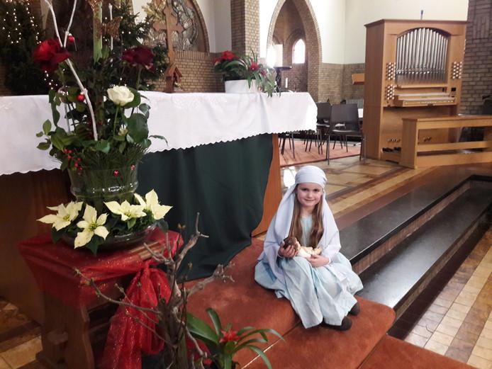 Quirine met het Kindje Jezus.  Foto Joop Verstraaten