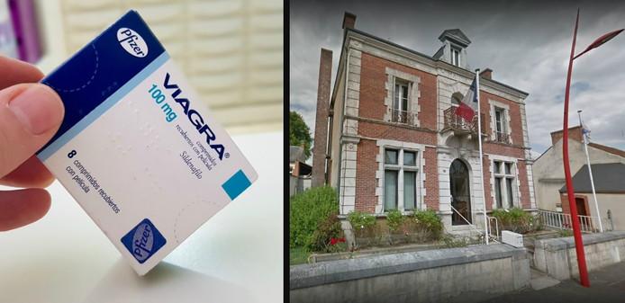 Rechts: het gemeentehuis van Montereau.