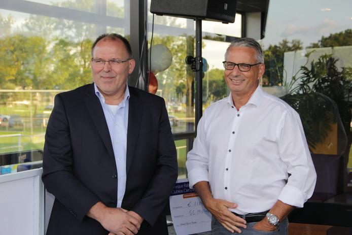 Jan Scholtens (l) en Alex ten Westeneind.  Eigen foto