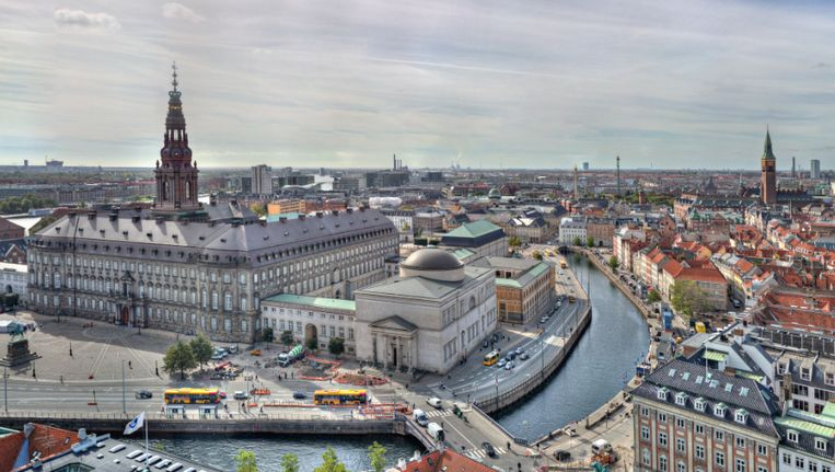Zicht op Kopenhagen, de Deense hoofdstad.