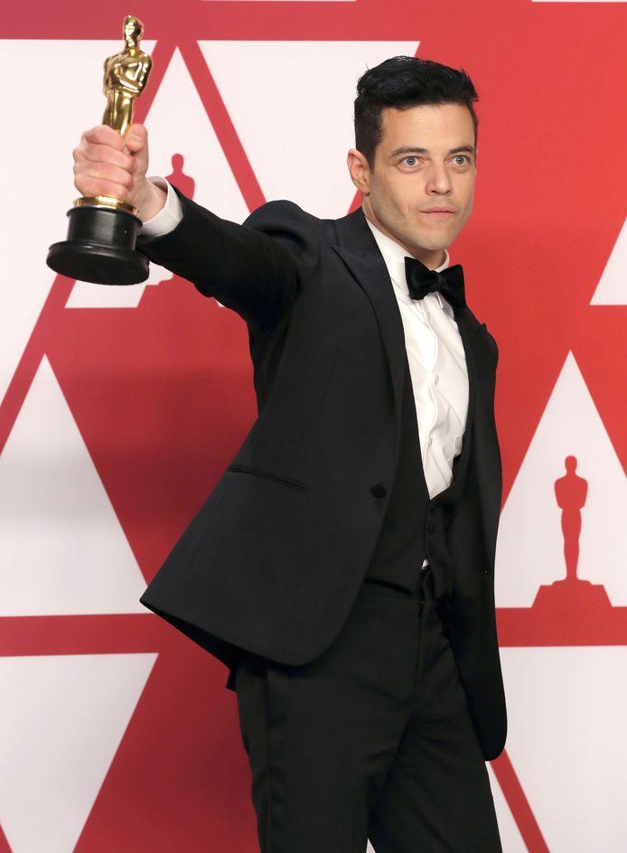 Acteur Rami Malek versloeg favoriet Christian Bale (Vice) in de categorie Beste Acteur