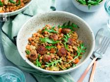 Wat Eten We Vandaag: Gestoofde linzen met worst