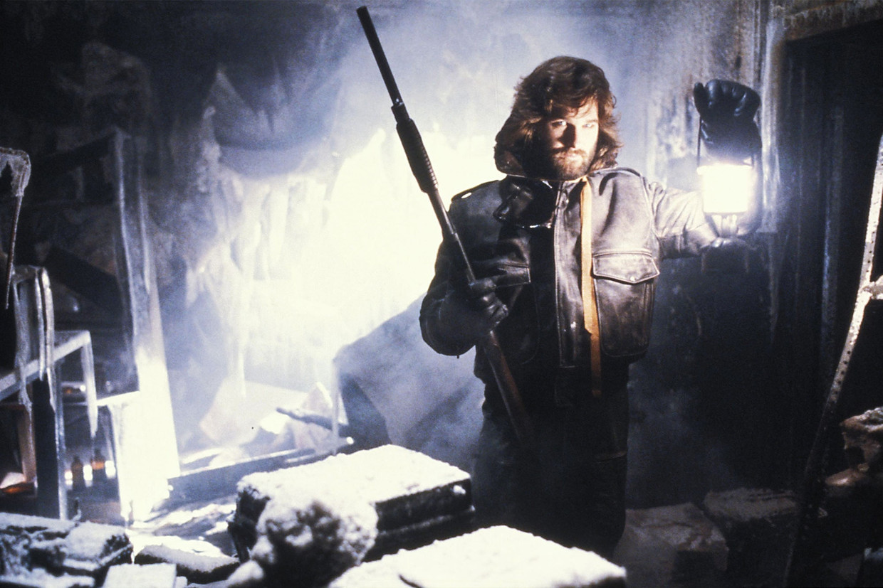Kurt Russell in scififilm The Thing uit 1982.  Beeld