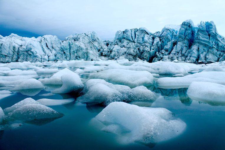 Uiteinde gletsjer West-Groenland. Beeld Credit: Matt Osman / Woods Hole Oceanographic Institution