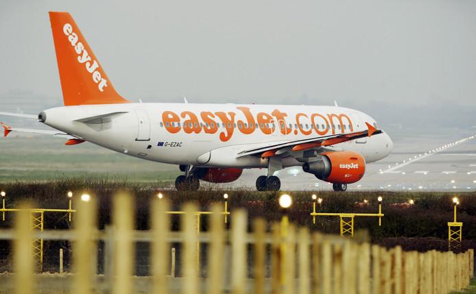 Een easyJet-vliegtuig op Gatwick