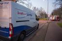 Brandweerlieden en medewerkers van Brabant Water kwamen ter plaatse.