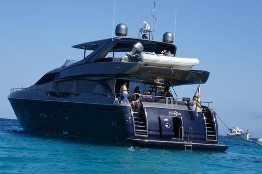 Le yacht du couple royal