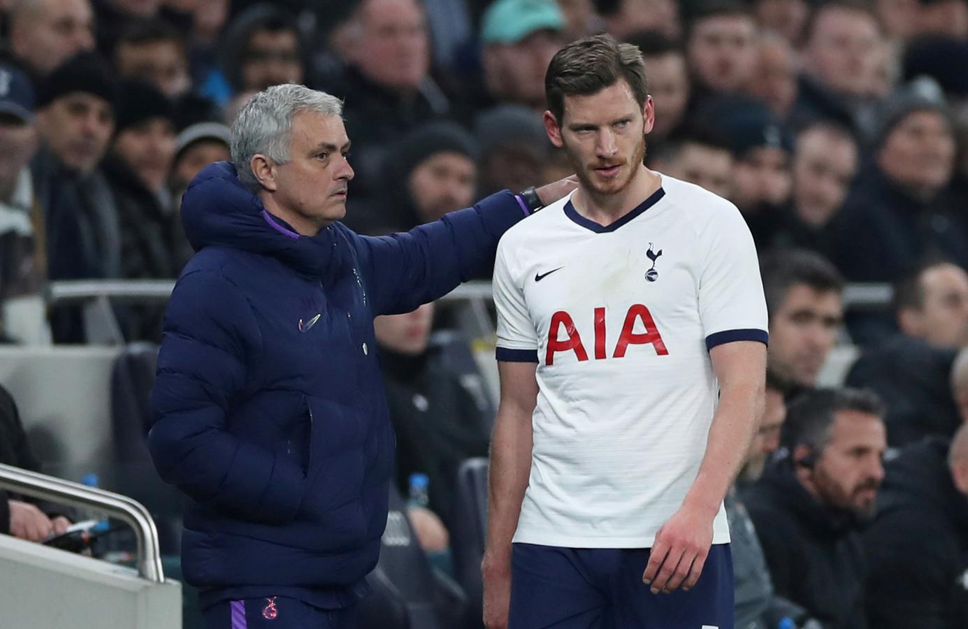 Jan Vertonghen met trainer José Mourinho