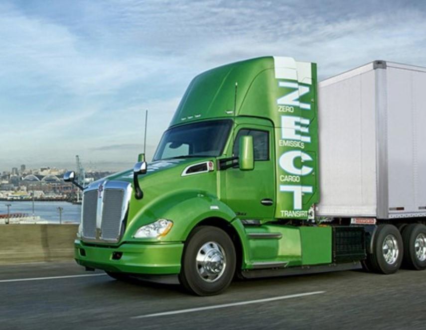 De Kenworth Zero Emissions Cargo Transport (ZECT) van DAF-moeder Paccar rijdt op waterstof.