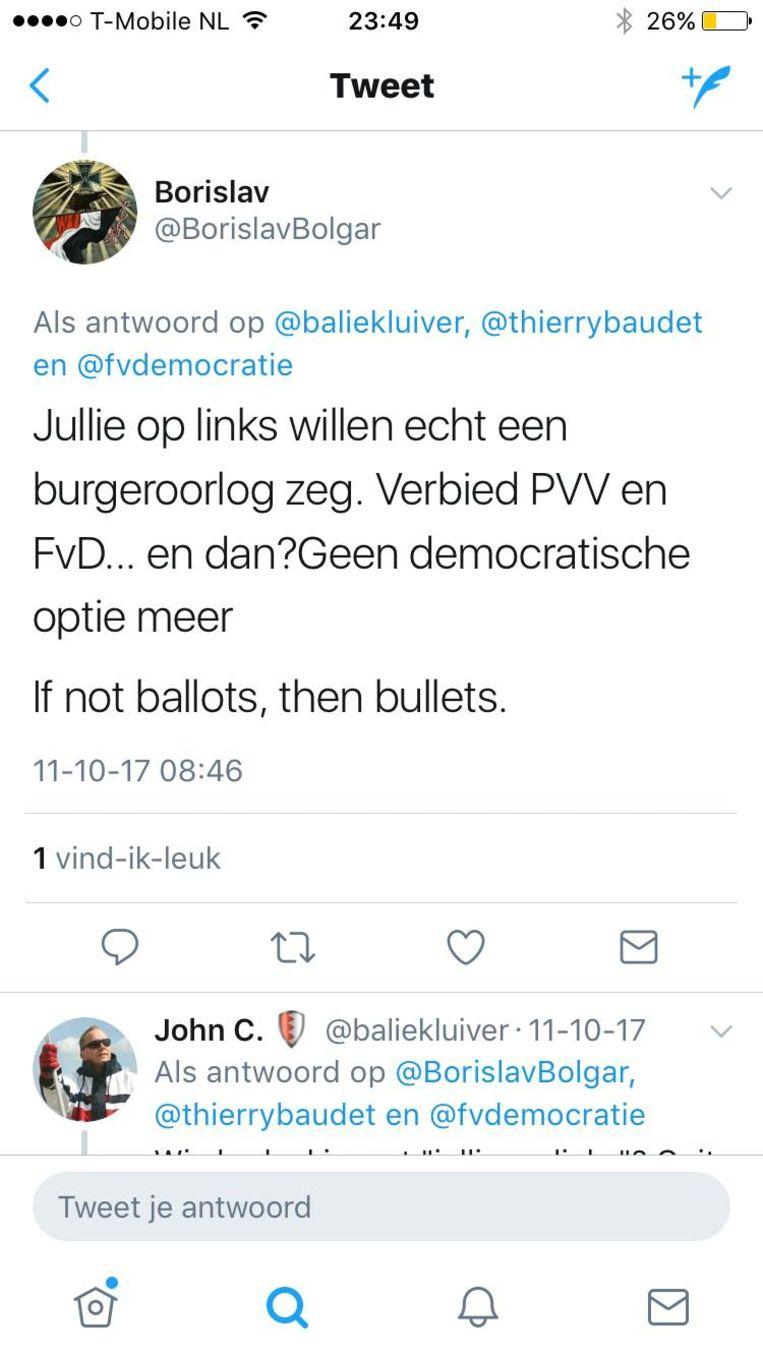 Tweets van Fausto. Beeld .