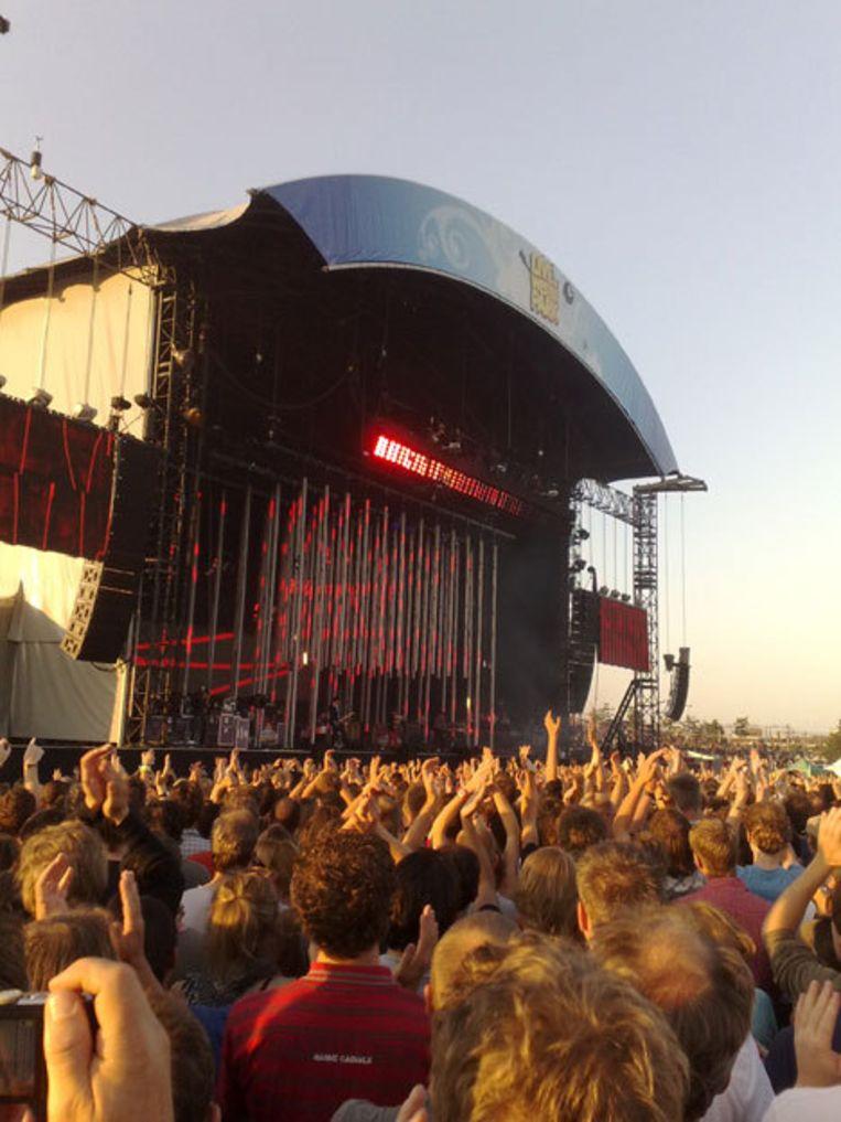 Radiohead in het Westerpark. Foto Jelle de Gee Beeld