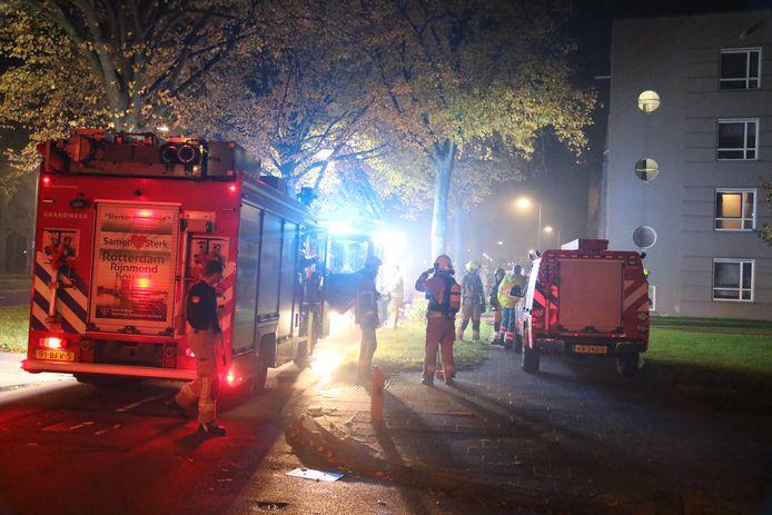 De brandweer rukte uit naar de Oldegaarde.