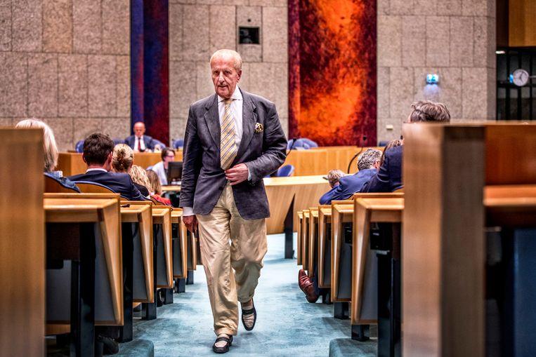 Theo Hiddema in de Tweede Kamer. Beeld Raymond Rutting / de Volkskrant