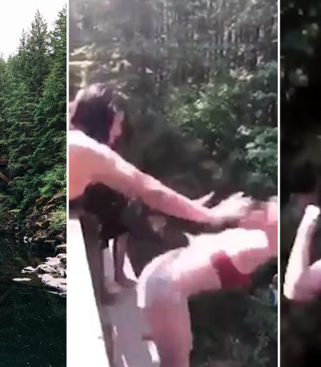 Tiener die vriendin van 15 meter hoge brug duwde pleit schuldig