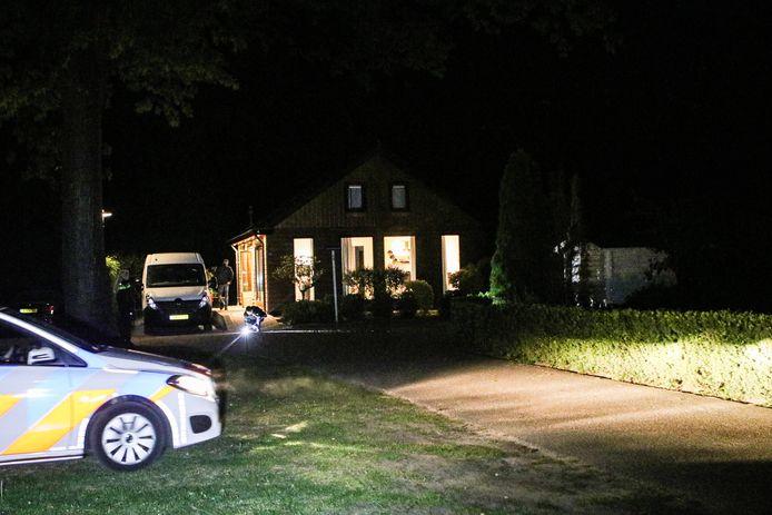 Het vakantiehuisje in Ede waar maandagavond Toon R. werd gearresteerd.